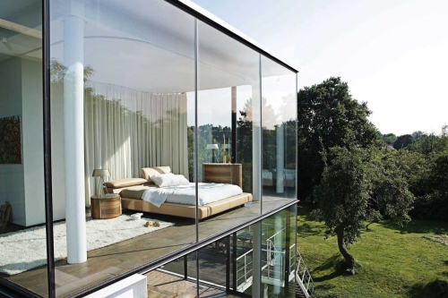Также можно приобрести панорамные окна